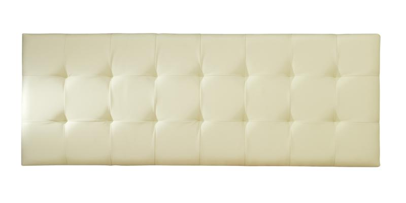 SERENE Romana Cream Faux Leather Headboard